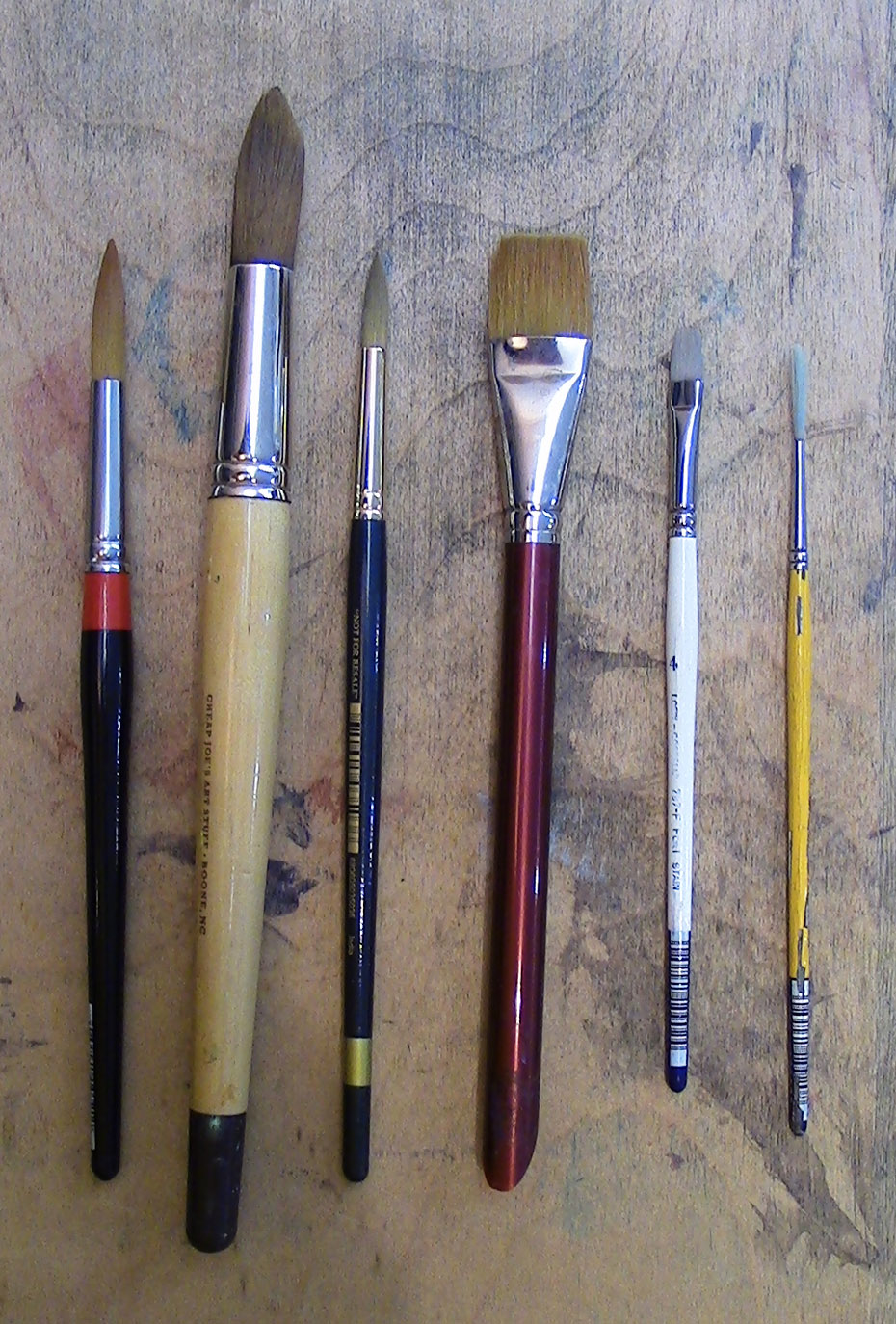 18_10_1 Basic Watercolor Painting Materials_Brushes
