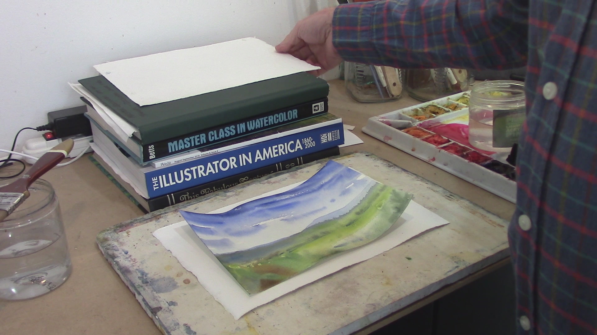 How To Flatten A Buckled Watercolor Painting