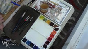 Setting Up To Paint in Watercolor