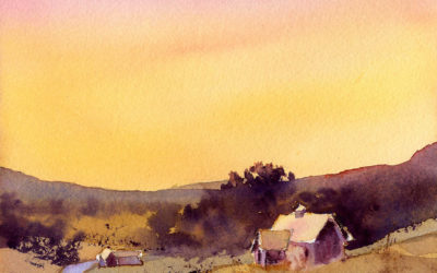 Paint An Evening Sky in Watercolor – Easy Painting Project