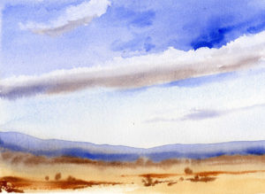 Quick And Easy Way to Create Clouds In A Watercolor Sky