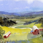 Paint A Watercolor Landscape With Aerial Perspective