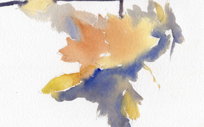 Quick Painting of Fallen Leaves in Watercolor