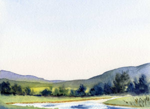 Paint A Summer Sky and Landscape in Watercolor - Easy Painting Lesson