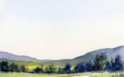 Paint A Summer Sky and Landscape in Watercolor – Easy Painting Lesson