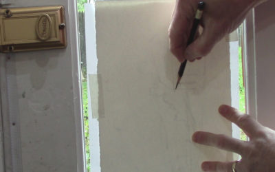 Tracing Your Composition Onto Watercolor Paper