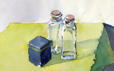 Painting Transparent Glass In Watercolor
