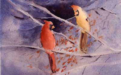 Painting Cardinals In Watercolor – Painting Tutorial
