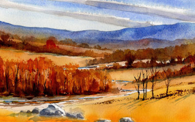 Fall Landscape Scene – Watercolor Painting Lesson