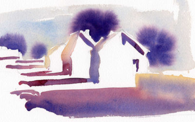 Fast Early Morning Street Scene – Watercolor Painting Lesson