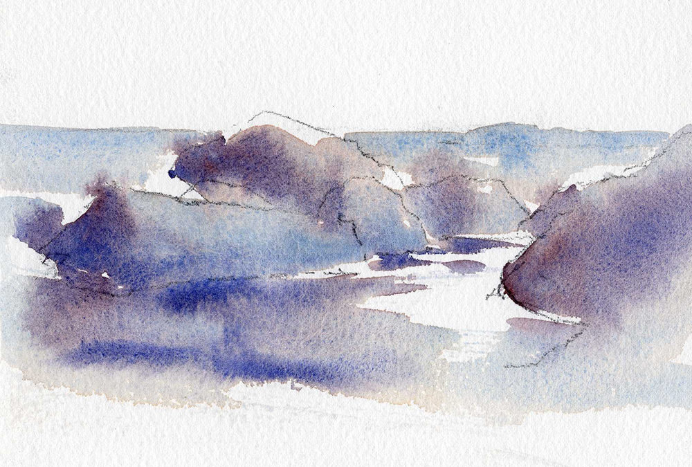 Rocks, Reflections and Watercolor – Quick Watercolor Painting Lesson