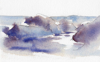 Rocks, Reflections and Water – Quick Watercolor Painting Lesson