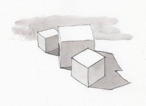 High-Key Value Arrangement Cube Study