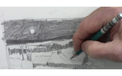 Creating A Value Sketch For A Winter Night Landscape Painting