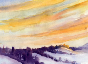 Morning Sky And Clouds - Watercolor Painting Lesson