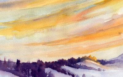 Morning Sky And Clouds – Watercolor Painting Lesson