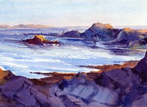 Quiet Evening Seascape Watercolor Painting Lesson