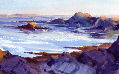 Quiet Evening Seascape Watercolor Painting Lesson
