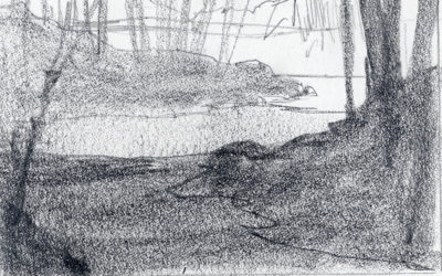 Value Sketching For A Winter Landscape Painting