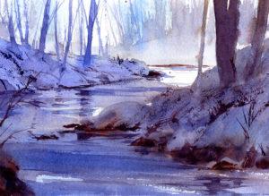 Quiet Winter Landscape Watercolor Painting Lesson