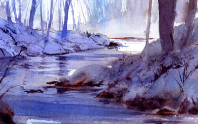 Quiet Winter Landscape Watercolor Painting Lesson