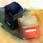 Watercolor Sketch To Painting - Simple Still Life