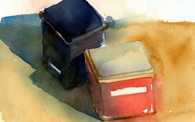Watercolor Sketch To Painting – Simple Still Life