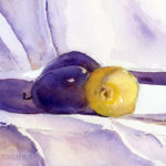 Lemons and Plums Still Life - Watercolor Painting Lesson