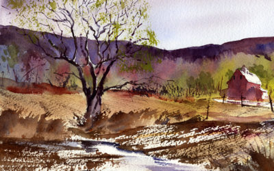 Painting An Early Spring Landscape – Watercolor Painting Lesson