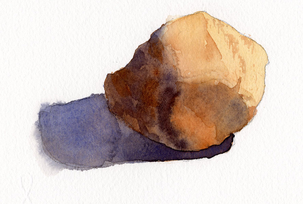 Learn To Paint Rounded Rocks Watercolor Painting Lesson