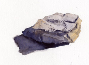 Learn To Paint Angular Rocks - Watercolor Painting Lesson