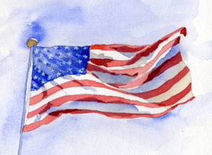 Painting A Waving Flag - Watercolor Painting Lesson