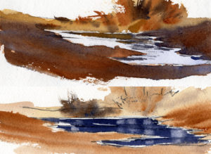 Easy Way To Paint Puddles In Watercolor Painting Lesson