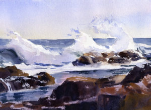 Paint A Seascape In Watercolor With Wave