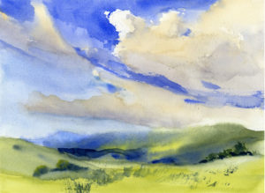 Summer Sky and Clouds - Watercolor Painting Lesson