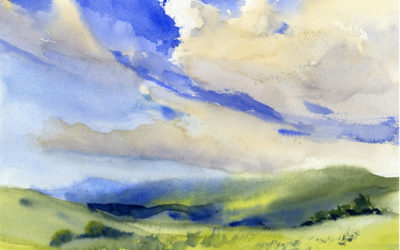 Summer Sky and Clouds – Watercolor Painting Lesson