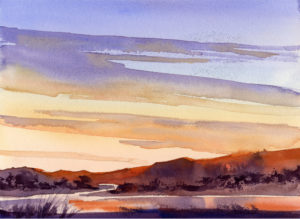 Paint An Evening Sky - Watercolor Painting Lesson