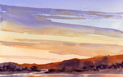 Paint An Evening Sky – Watercolor Painting Lesson