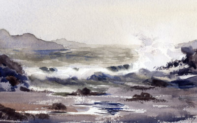 Paint A Fog and a Seascape – Watercolor Painting Lesson