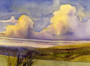 Learn to Paint Evening Clouds In Watercolor