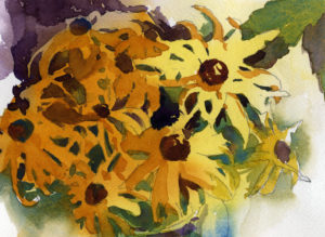 Black Eyed Susans Watercolor Painting Lesson