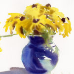 Quick Sketch of Flowers In A Vase - Watercolor Painting Lesson