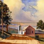 Warm Summer Evening Landscape - Watercolor Painting Lesson