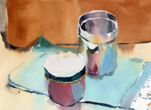 Quick Sketch Of Reflective Cup Watercolor Painting Lesson