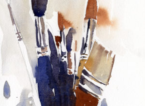 Paint Brushes Watercolor Sketch