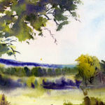 Misty Morning Landscape Watercolor Painting Lesson