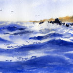 How To Paint Ocean Waves - Watercolor Painting Lesson