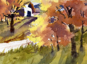 Sunlight Autumn Leaves - Watercolor Painting Lesson