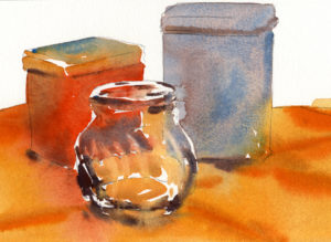 Quick Study of Transparent Glass - Watercolor Painting Lesson