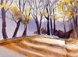 Painting A Landscape With Gentle Light - Watercolor Lesson
